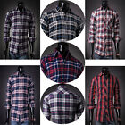 LUXURY New Fashion Men's Slim Fit Shirt Long Sleeve Shirts Casual Tops S M L XL