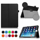 Multi-Color Classic Folio PU Leather Stand Case Cover for Apple iPad