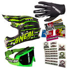 ONEAL Motocross Helm 3series Crawler Element Handschuhe black Brille Stickerset