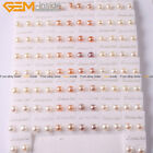 Multi-color Freshwater Pearl Silver Stud Earrings Wholesale 50 Pairs ,Size Pick