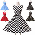 RETRO Polka Dots/Floral Vintage 50s Rockabilly Housewife Swing Pinup Midi Dress