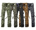 Korean Casual Military Cargo Pants Men's Multi-pocket Chic Trousers Trend Shorts
