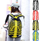 Fashion Skeleton Pattern Unisex Canvas Travel Backpack Bag Outdoor School Bags