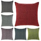 "Dayton Luxury Chenille Stripe Cushion Cover 18"" x 18"" (45cmx45cm)"