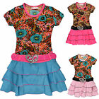Girls Summer Floral Rara Dress Kids Party Dresses New Age 2 3 4 5 6 8 9 10 Years