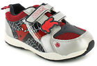 New Boys/Childrens Silver/Red/Black Spiderman Character Trainers UK SIZES