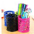Creux Rose Flower Pattern cylindre stylo crayon Pot titulaire organisateur