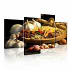 INDIAN FOOD Chilli Spice Canvas Restaurant Deco Framed Print ~ 4pc
