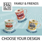 RETRO DINER STYLE MUGS *FAMILY & FRIENDS - CHOOSE A DESIGN* BRAND NEW