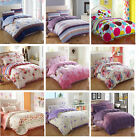 Soft 100% Cotton Romantic Bedding Doona Duvet Quilt Cover And 2 Pillowcases Set