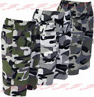 Boys Shorts Long Knee Length Army Camouflage Cargo Kids Summer Clothes Ages 3-14