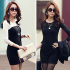 1PC Womens Sexy Slim Long Sleeve Crew Neck Party Cocktail Lace Dress Salable