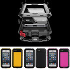 Shock/ Waterproof Touch ID Aluminum Gorilla Glass Metal Cover Case for iPhone 5S