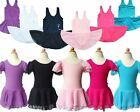 Girl Kid Gymnastic Dance Skate Dress Ballet Leotard Tutu Dancewear Skirt Unitard