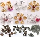 200-300 Pcs Gold Silver Flower End Bead Caps Charm 6mm/9mm Jewelry Finding  DIY