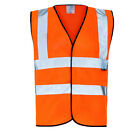 ORANGE HI VIZIBILITY DAYGLO VIS VEST HIGH VIZ WAISTCOAT - CLEARANCE STOCK