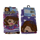 Girls Official Princess Sofia Socks 2 Pairs Sizes 6-2.5 UK NEW FREE UK P&P
