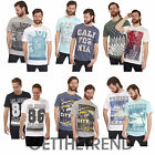 Mens Cargo Bay Printed Graphic Tshirts Mens 100% Cotton Short Sleeve Tops 2 PACK