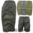 MENS NEW COMBAT SHORTS MENS KHAKI POLYCOTTON HOLIDAY SUMMER COMBAT SHORTS