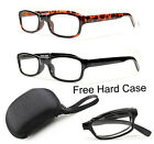 Folding Reading Glasses Plastic Readers Compact Pocket Size Black Tortoise