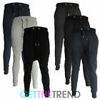 Mens Designer Drop Crotch Skinny Slim Fit Stretch Joggers Bottoms Pants Trousers
