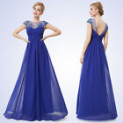 UK Seller Elegant Women Long Blue Bridesmaid Evening Formal Party Dresses 08438