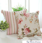 Home Decorative French Provincial Country Rose/Stripes Cushion Cover-Pink