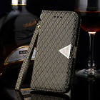 Bling Magne Hand Strap Wallet Leather Flip Cover Case Fr Samsung Galaxy S3 S4 S5
