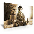 Buddha Canvas Brown Color Religion Modern Home Office Wall Art 9 size