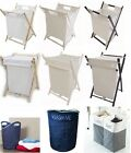 LAUNDRY HAMPER BIN BAG BASKET CLOTHES WASH WASHING TOY STORAGE STRONG FOLDING
