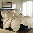 JCPenney CROSCILL LUX Full/Queen COVERLET Diamond Quilted Embroidery Retail $200