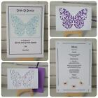 LACE BUTTERFLY Handmade Invitations *Wedding, Party, Birthday* Pack Of 10