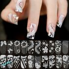 3D Lace Crystal Nail Art Tips Stickers Wraps Decal Manicure Decoration DIY Hot
