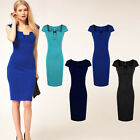 Women Bodycon Slim Fit Office Pencil Dress Business Cocktail Dress Lady Hot