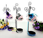 "Top Hat Cat Mask Jewelry Earring Necklace Ring Display Holder (tall 14.5"") JD27"