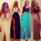 2015 WOMEN SEXY LONG LACE DRESS FORMAL BALL COCKTAIL PROM EVENING PARTY BODYCON