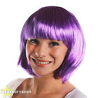 6 LADIES LILAC BOB WIGS WITH FRINGE PASTEL ANIME FANCY DRESS FASHION BABE HAIR