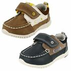 Boys Clarks Casual Leather Shoes - Deck Flex