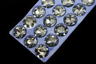 27 PCS 35mm Glass Round Faceted Glass Jewels