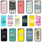 Sayings Quotes Case Cover for Apple iPhone 4 4s 5 5s 6 6 Plus - 33