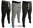 Mens Skinny Slim Fit Skinny Joggers Contrast Joggers Mens Bottoms
