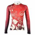 Red Divine Flower Women's Cycling Clothing Long Sleeve Bike Bicycle Jersey Top