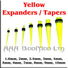 1 Yellow - Green Taper / Ear Stretcher. 1.6mm to 10mm