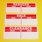 Red Promotional Point Of Sale Retail Price Stickers Sticky Swing Tag Labels POS