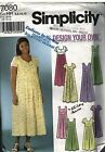 7080 Vintage Simplicity Sewing Pattern Misses Design Your Own Maternity Dress