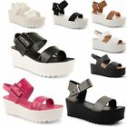 Ladies Womens Dolcis Gladiator Chunky Cleated Sole Sandals Flatform Shoes Size