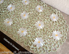 "IVORY PEDALS & SAGE Lace Doily  70"" Table Runner  Daisy"
