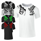 Jared Leto Inspired Joker HA HA HA and Jester Skull Tattoo T Shirt NEW