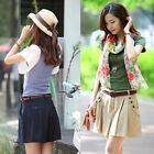 Summer Ladys Oversized Loose Skorts Summer Casual Cotton Hot Pants Shorts S-2XL