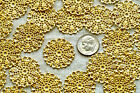 8pcs Brass Round Filigree Embellishment Wraps Charms Finding 25mm bp23 PICK